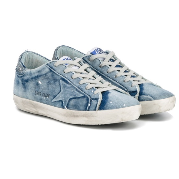 Blue Denim Superstar Sneakers Golden Goose 8ynRKAqN